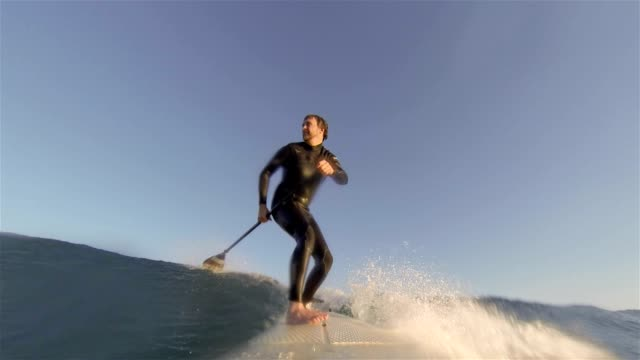 Stand Up Paddle Boarding. SUP surfing HD video