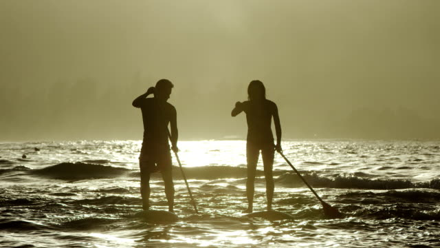 Stand up Paddleboarding in the ocean video