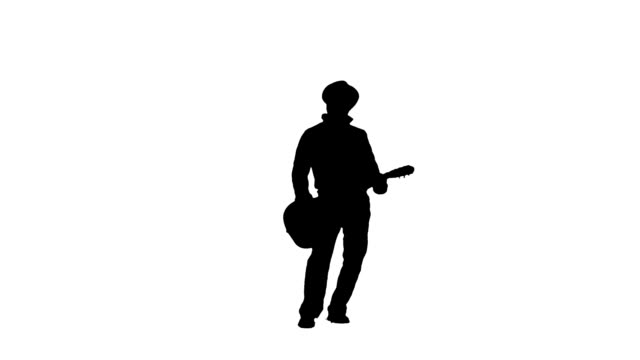 Standing guitar player video