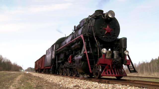 standing steam train video