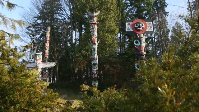 Stanley Park Totems Camera Move, Vancouver