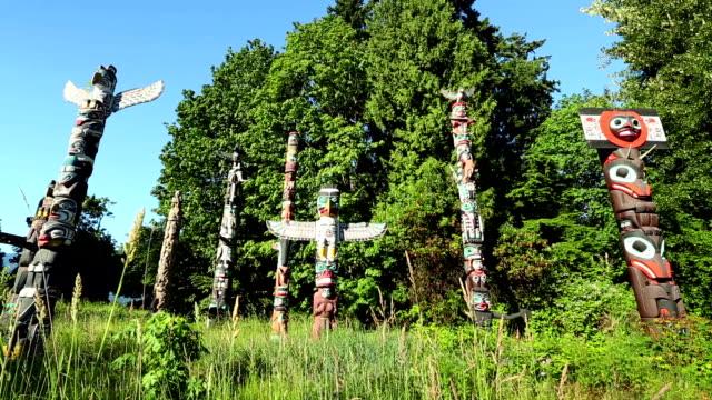 Stanley Park Vancouver Totem Poles video