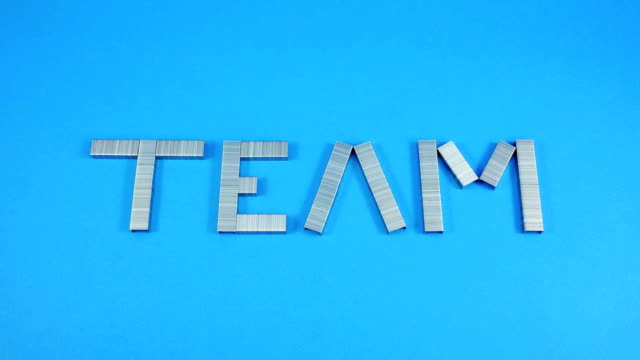 Staples stack showing the word of team. video