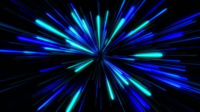 Star Burst oder Star Trails Explosion oder Hyperspace in blau – Video