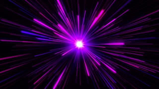 Star Burst oder Star Trails Explosion oder Hyperspace in lila – Video