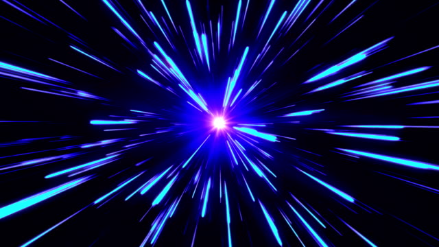 star burst or star trails explosion or hyperspace or warp drive - infinito video stock e b–roll
