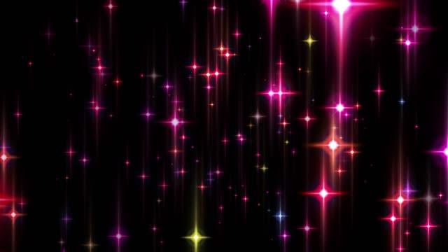 a star flash on holy night [loop] - kawaii video stock e b–roll