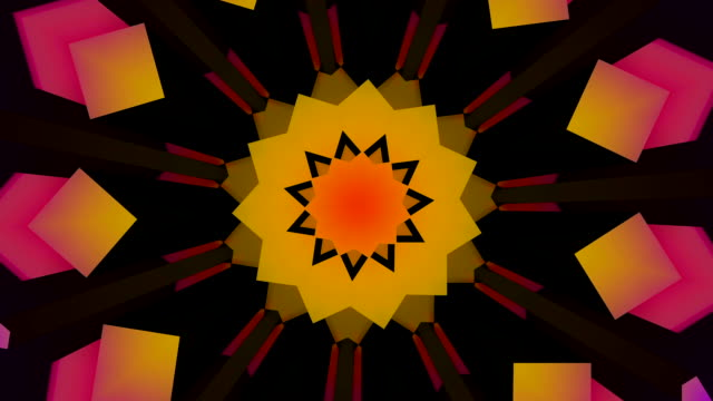 Star floral shaped 3D looping background video