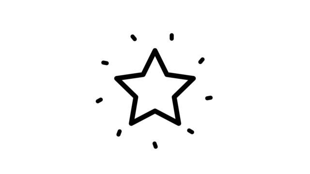 yıldız simgesi beyaz arka planda yalıtılmış. - ünlüler stok videoları ve detay görüntü çekimi