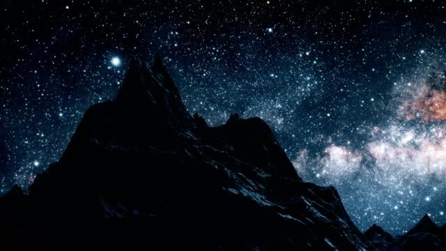 stjärnor i vintergatan galax rör sig över natt himlen tidsfördröjning. delar av denna bild från nasa - nightsky bildbanksvideor och videomaterial från bakom kulisserna