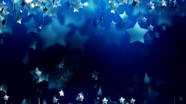 Star Particle in Blue Background (Loopable) video
