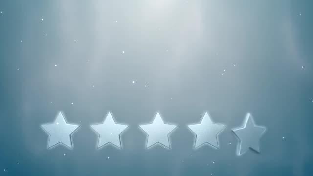 liczba gwiazdek. 5 gwiazdek. dolna jedna trzecia. hd - evaluation filmów i materiałów b-roll