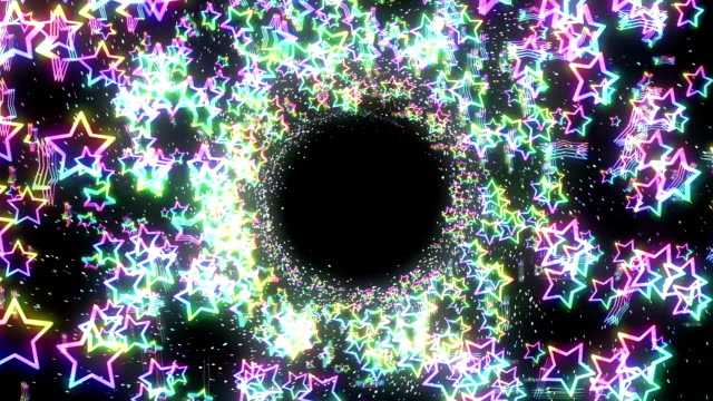 Star Spin Motion Background, Rainbow Colors Animation, video