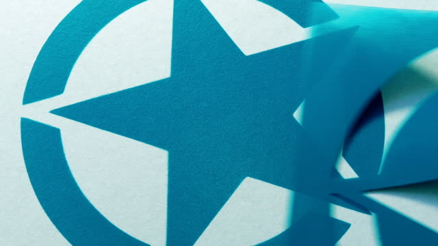 Star Symbol Is Spray Painted Onto Surface