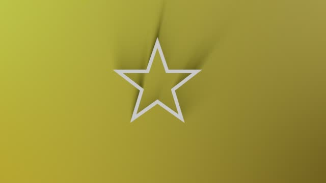 Star Symbol While Shadow Passes All Around on Yellow Background in 4K Resolution Loop Ready File