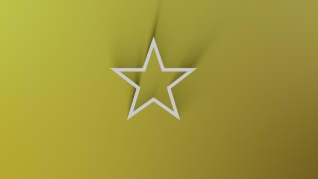 4k çözünürlük döngüsü hazır dosyada gölge sarı arka planda her yerde geçerken yıldız sembolü - ünlüler stok videoları ve detay görüntü çekimi