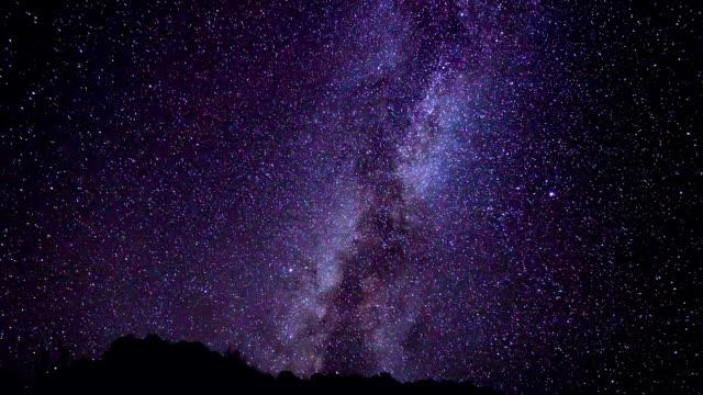 star time lapse, milky way galaxy at night - nightsky bildbanksvideor och videomaterial från bakom kulisserna