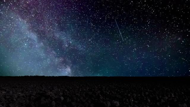 Bидео Звезда Time Lapse, Галактика Млечный Путь на ночь