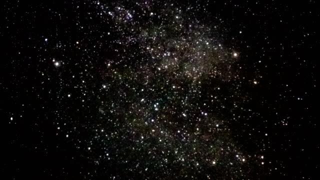star time lapse, vinter gatan galaxy rör sig över natthimlen - nightsky bildbanksvideor och videomaterial från bakom kulisserna