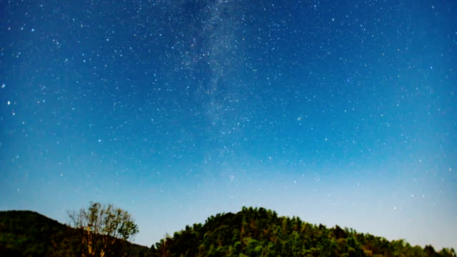 Star TIme Lapse, Milky Way Galaxy moving across the Night Sky video