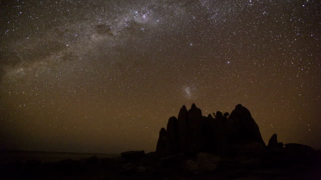 Star time-lapse, milky way galaxy,Makgadikgadi Pans Botswana video