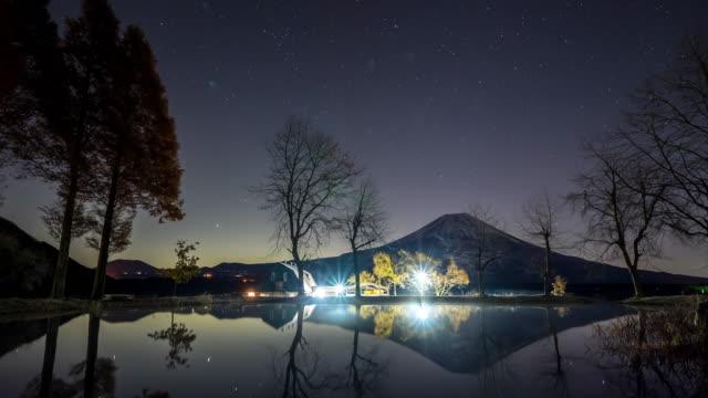 Star trail Time-lapse: Fujisan sunrise Fumoto Para Camping video