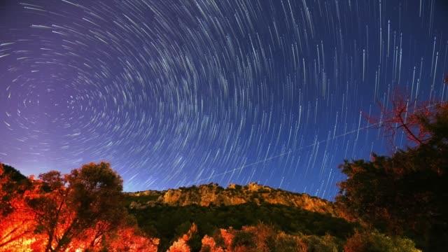 vídeos y material grabado en eventos de stock de camino de estrellas. - estrella del norte