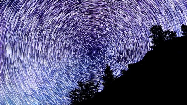 Star Trails Time Lapse at Night video