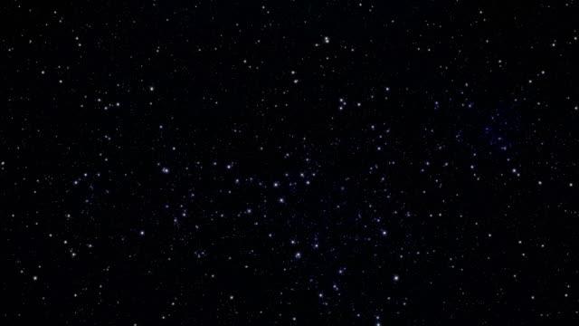 vidéos et rushes de starfield - stars univers flyby arrière-plans vidéo boucle - ciel etoile