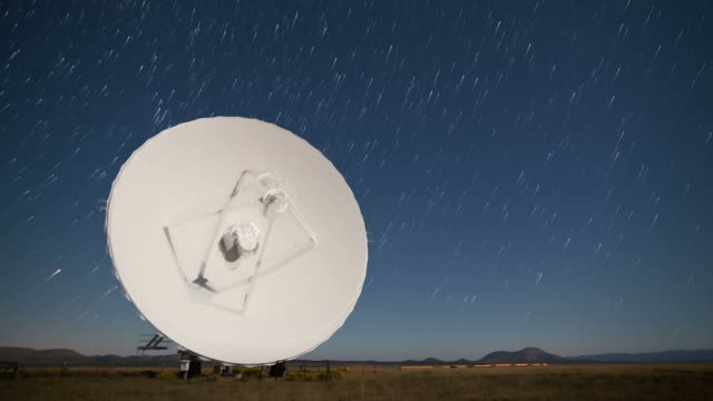 Starlapse Radar Array Dish Time Lapse video