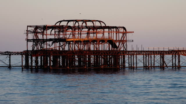 Starlings on old West Pier in Brighton video