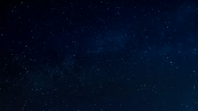 Starry night and milky way video