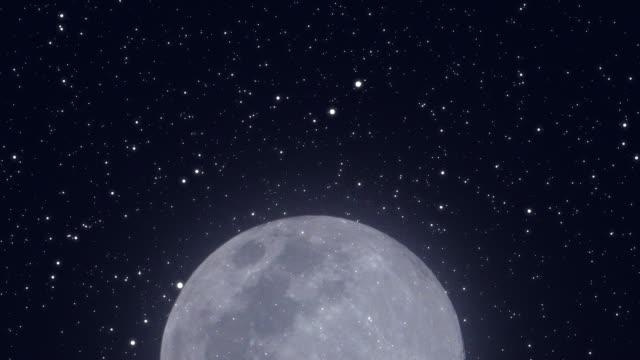 4k: stjärn klar natt med månen. - earth from space bildbanksvideor och videomaterial från bakom kulisserna