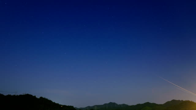 Starry sky scene translation in summer 4K Time Lapse Video video