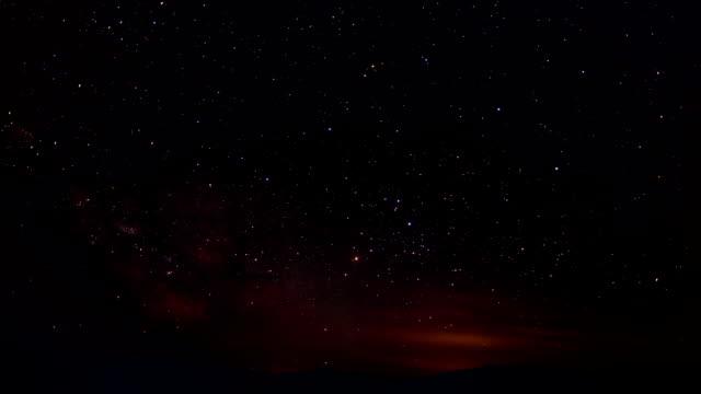 Starry sky time lapse video