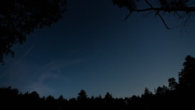 Starry Sky Time Lapse with moving great bear asterism video