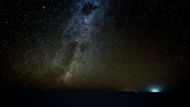 Starry sky timelapse over the salt flat of Salar de Uyuni Starry sky timelapse over the salt flat of Salar de Uyuni, Altiplano, Bolivia. Clip version with more sky and less of ground. salt flat stock videos & royalty-free footage