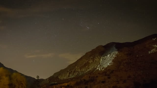 Starry sky timelapse with moonrise video
