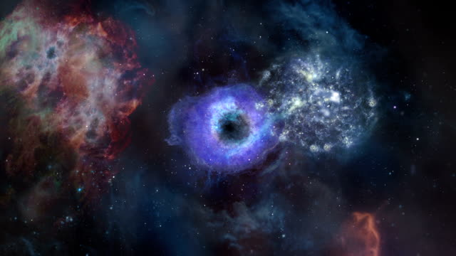 Stars and Galaxies. Loopable. Multicolored. Space background: nebulas, stars, comets. video