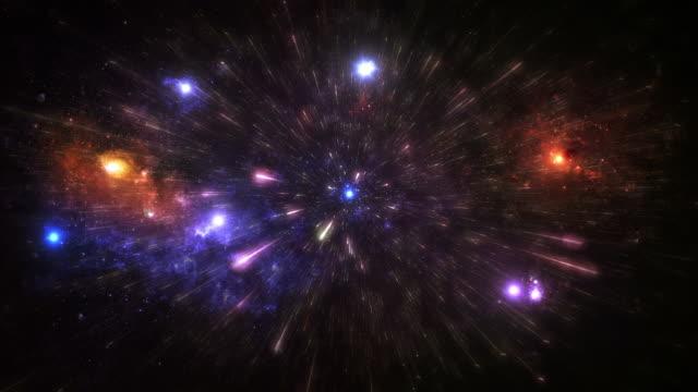 Stars und Galaxien. Raum Hintergrund. Bunte. Endlos wiederholbar. Astronomy. – Video