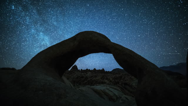 TIME LAPSE: Stars and Milky Way over the Mobius Arch video