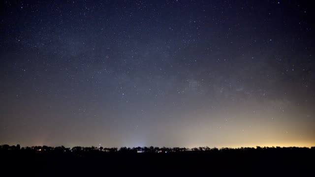Stars and Moon Time Lapse with Fireflies video