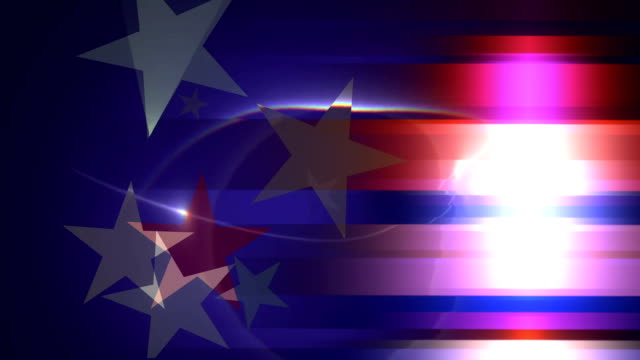 Stars and Stripes star red, white and blue turning blue stripes background president stock videos & royalty-free footage