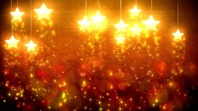 Stars decorations loop video