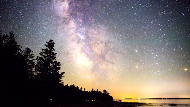 Stars in the night sky video