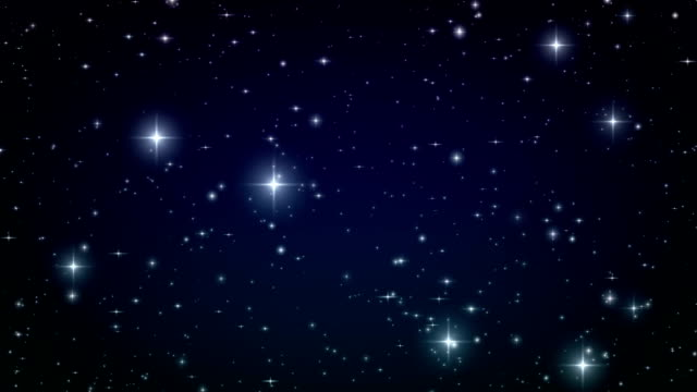 Stars in the sky. Looped animation. HD 1080. video