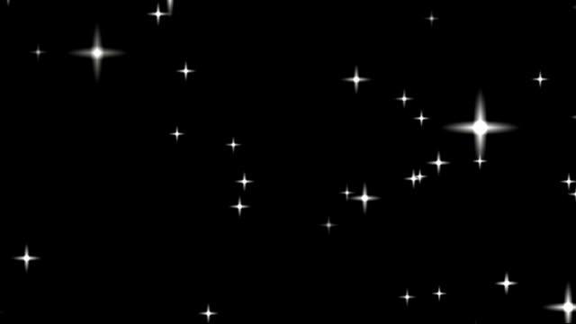 空には星。ループ アニメーション。 ビデオ