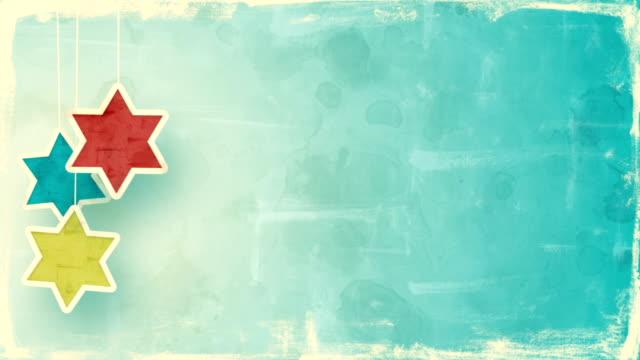 デビッド ハヌカ単発背景の星 - ハヌカー祭点の映像素材/bロール