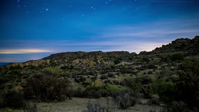 ジョシュア ツリー国立公園には星です。 - ジョシュアツリー国立公園点の映像素材/bロール