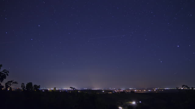 HD TIME-LAPSE: Stars Over Night Cityscape video
